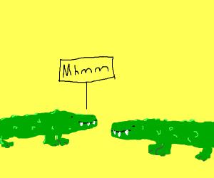 alligators agreeing