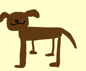 Very tall dog