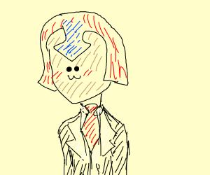 Jojo character in a tuxedo.