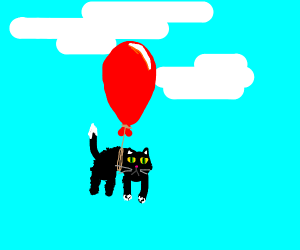Cat With a Balloon