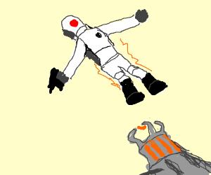 (Half Life 2) Combine held up via Gravity gun
