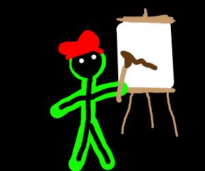 Glowing painter