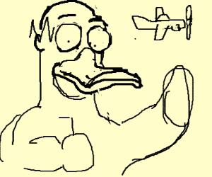 Duck Homer Simpson as King Kong