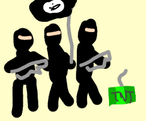 isis with green tnt