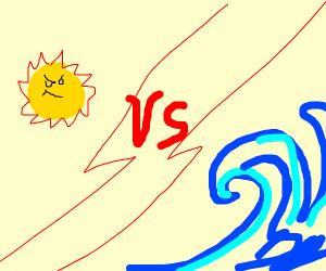 Sun vs. Ocean: an epic fight