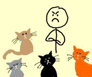 Man hates cats, and that devastates the cats