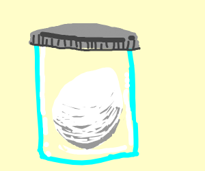 egg in jar