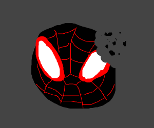 black spiderman OH WAIT NVM HES A COOKIE