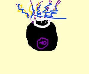 lightning controlling 8 ball smoking a cig