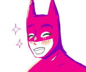 Pink anime batman