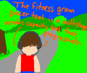 The FitnessGram Pacer Test is a multistage a