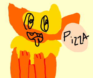 Flareon really wants a pizza