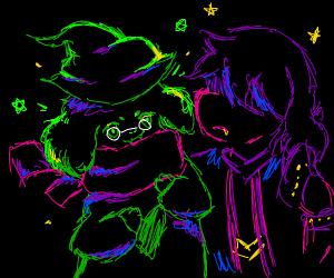 Ralsei and Susie (Deltarune)
