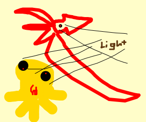 flying squid and octapus spot light
