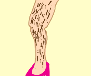 Man leg wearing heel shoe