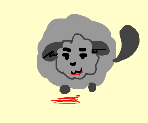 evil chinchilla waiting to eat a man