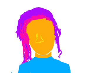 Pink & Purple Haired Girl