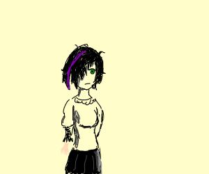 edgy cartoon girl