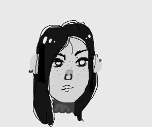 beautiful goth girl