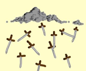 It's raining swords