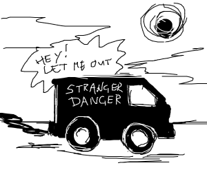 TRAPPED IN A STRANGER'S VAN!