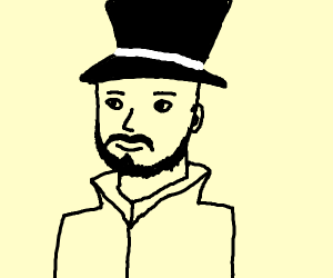 Man with a top hat