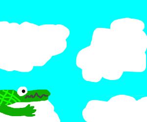 alligator is in heaven now