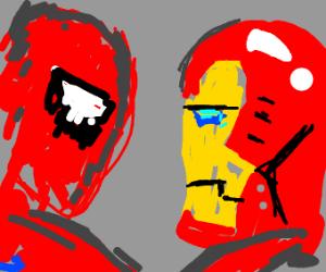 Spiderman VS Ironman w/ Cap America's Shield