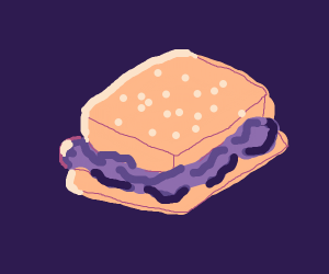 Purple jelly sammich