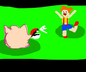 Jigglypuff catching Misty