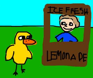 the man said no but we sell lemonade...