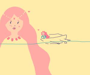 Ponyo's big mom & small dad (from ponyo)
