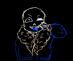 sans sticking his tougng out at you