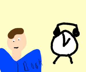 man reading a book by a large clock at 1