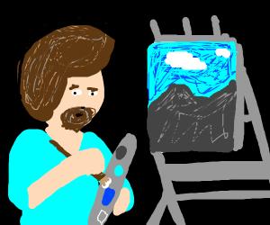Bob Ross paints some little mountains