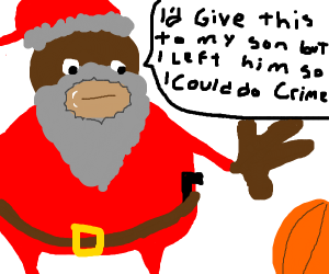 If Santa were a racist black stereotype