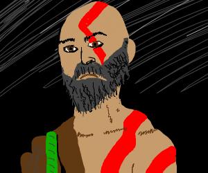 Kratos (god of war) beard