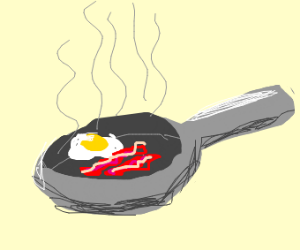 sizzlin hot bacon and eggs