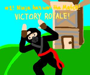 Literal Ninja wins at Fortnite