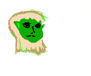 blonde gurl with green ears