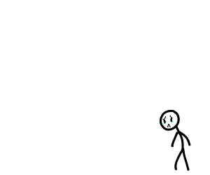 Small sad stickboy