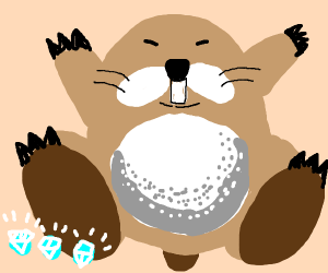 Monty Mole with his diamond collection