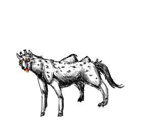 Hyena-Giraffe-Camel-Horse-Dog Hybrid