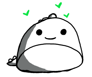 Round Dino loves you