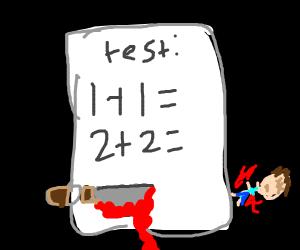 Killer math test