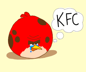Big Bird cries with desire for KFC