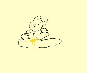 Peeing on rocks