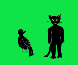 Fat Crow and Benjamin Cat