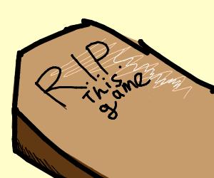 a coffin