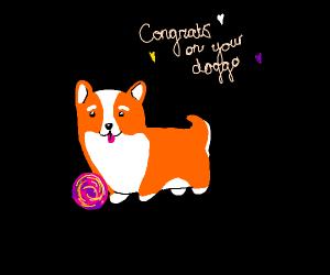 Freedraw to celebrate my adopted new doggo
